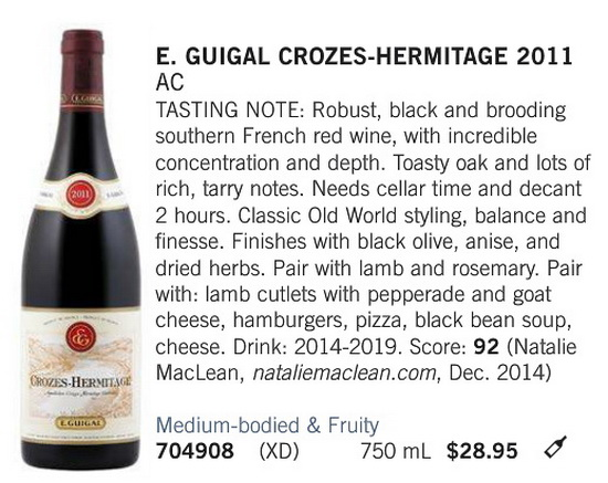 E. Guigal Crozes Hermitage