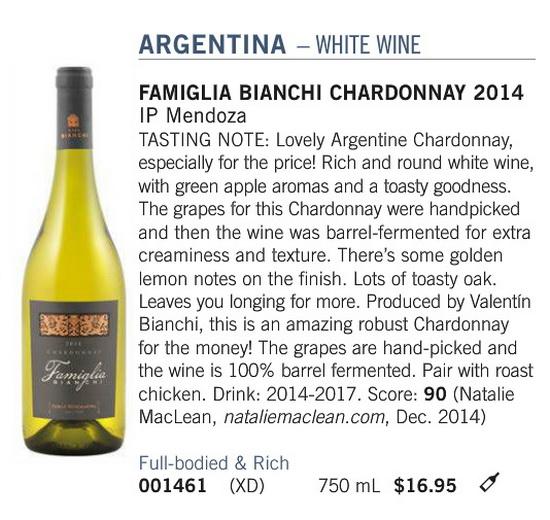 Famiglia Bianchi Chardonnay
