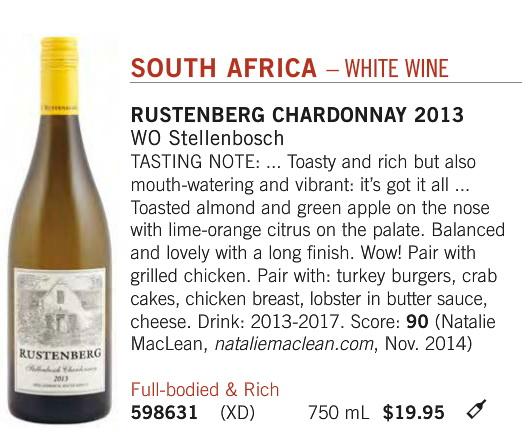 Rustenberg Chardonnay