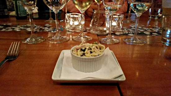 Kim Crawford Pasta dish July 16, 2015