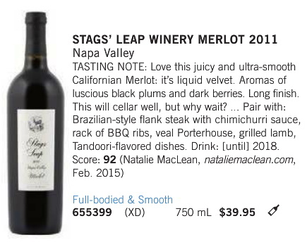 Stags Leap Merlot