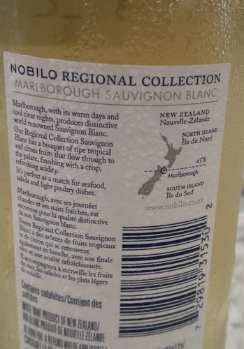 Nobilo back label