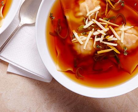 Butternut & Swiss Cheese Ravioli Soup Recipe