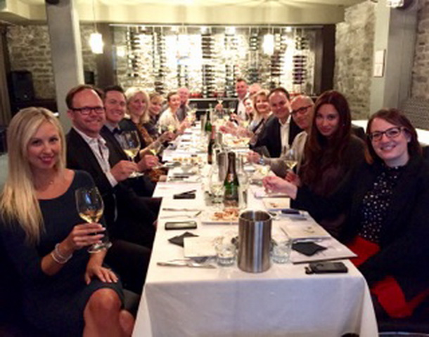 Tasting Group at Table