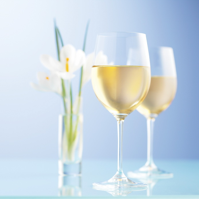 Celebrate spring's arrival with a glass of white wine.