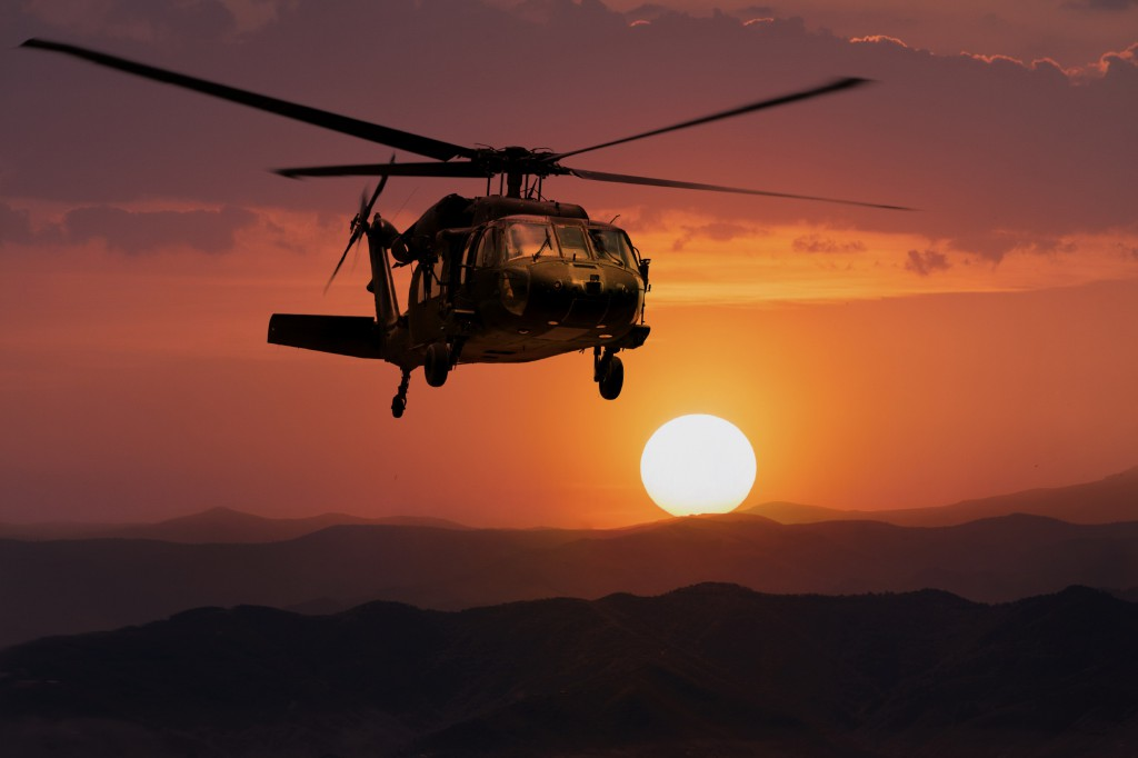 helicopter army sunset xl