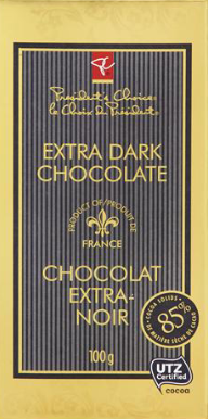 PC 85% Cocoa Solids Extra Dark Chocolate Bar (100g)