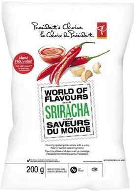PC World of Flavours Sriracha Rippled Potato Chips
