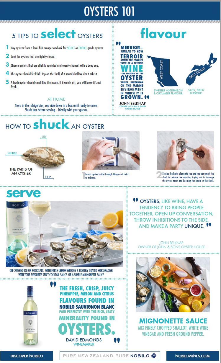 Nobilo Wine Oyster Inforgraphic