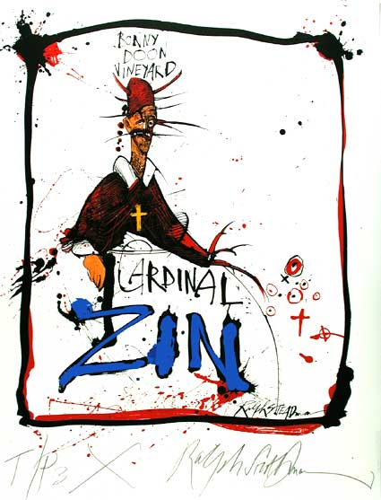 wine label art cardinal zin