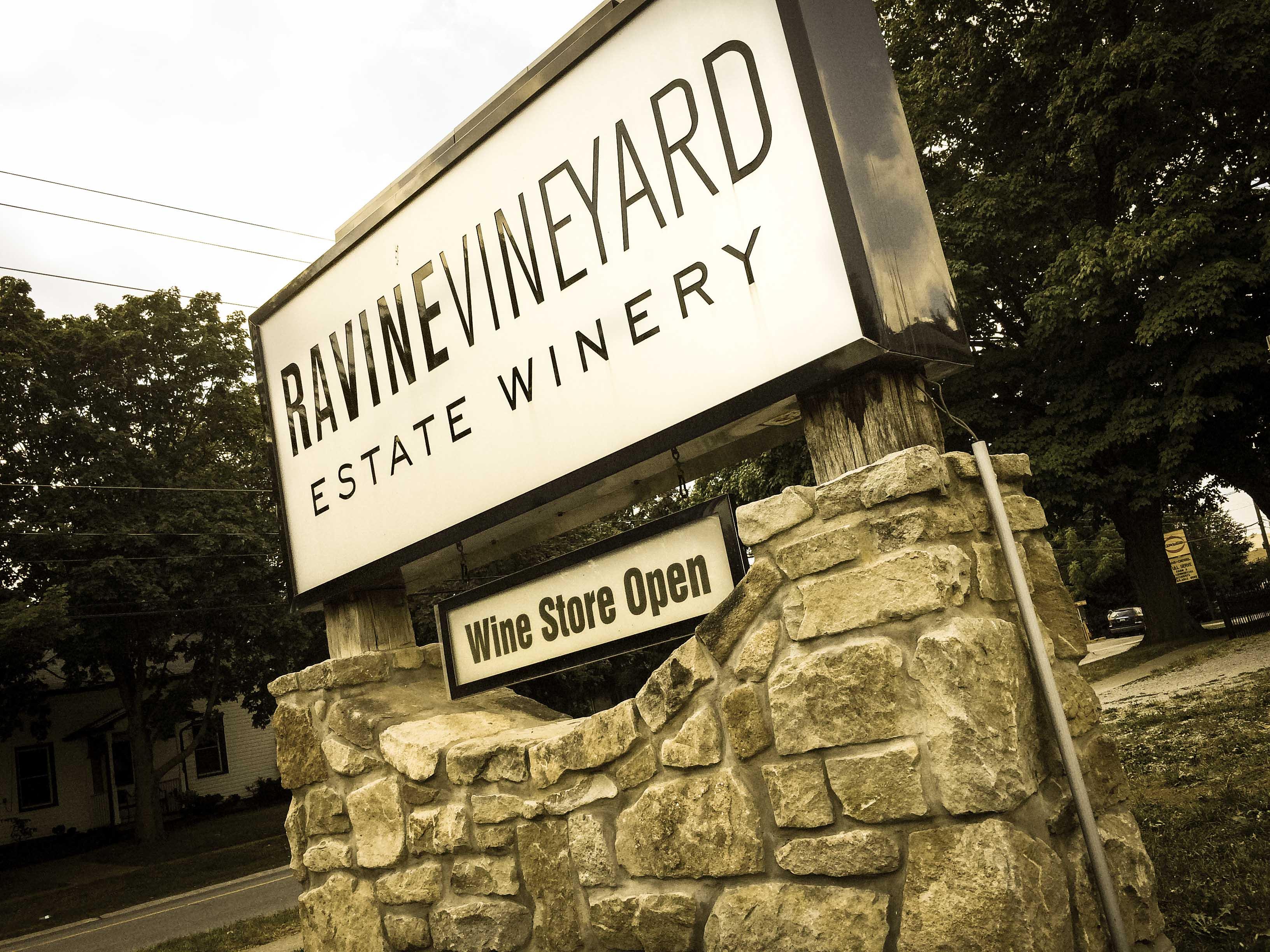 Entrance to Ravine Vineyard Estate Winery