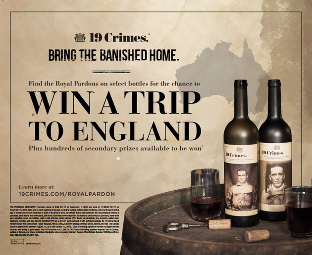 Win a Trip to London, England, with a Toast to 19 Crimes ...