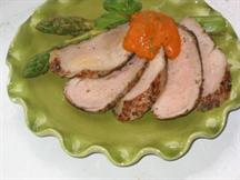 Pork Tenderloin with Roasted Pepper and Fennel Sauce