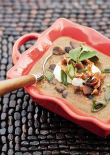 Black Bean with Bacon Soup