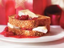 Honey Cranberry French Toast with Brie