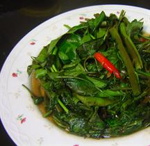 Chinese Stir-fried Water Spinach