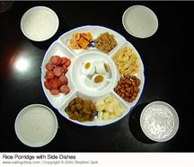 Chinese Rice Porridge with Side Dishes