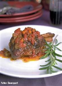 Braised Lamb Shanks with Tomatoes & Red Wine