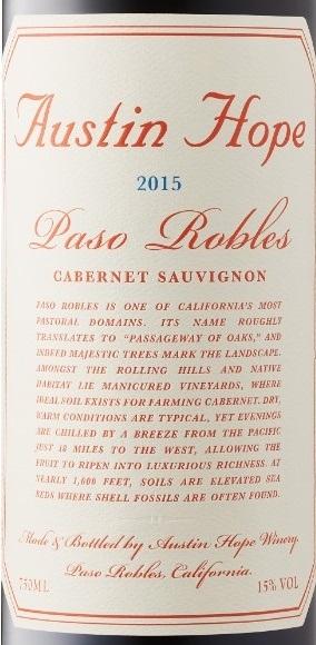 Austin Hope Cabernet Sauvignon 2015 Expert Wine Review Natalie Maclean