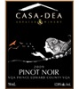 Casa-Dea Estates Winery Pinot Noir 2009