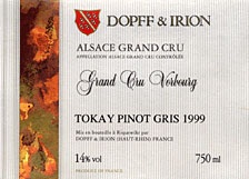 Dopff & Irion Vorbourg Grand Cru Pinot Gris 2009