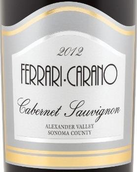 Amazing Ferrari Carano Cabernet Sauvignon 2012