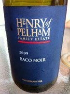 Henry of Pelham Winery Baco Noir 2008