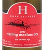 Huff Estates Winery Off Dry Riesling 2015