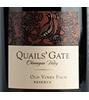 Quails' Gate Estate Winery Old Vines  Foch Reserve 2017