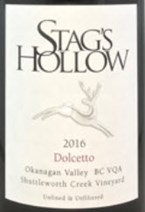 Stag's Hollow Winery & Vineyard Dolcetto 2016