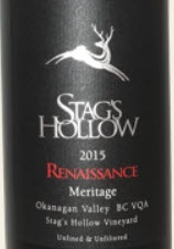 Stag's Hollow Winery & Vineyard Renaissance  Meritage 2015