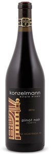 Konzelmann Estate Winery Barrel Aged Pinot Noir 2012