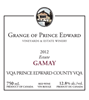 The Grange of Prince Edward Estate Winery Estate Gamay 2012