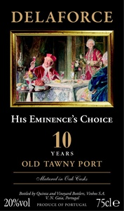 Delaforce His Eminence's Choice 10 Years Old Tawny Port Prod. & Btld. By Quinta And Vineyard Bottlers