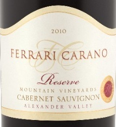 Ferrari Carano Reserve Cabernet Sauvignon 2010
