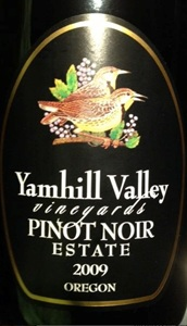 Yamhill Valley Vineyards Estate Pinot Noir 2009