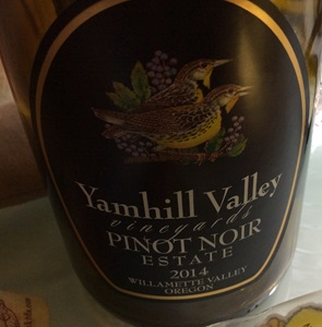 Yamhill Valley Vineyards Estate Pinot Noir 2014
