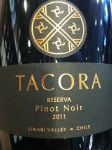 Tacora Reserva Pinot Noir by Kupal Wines 2011