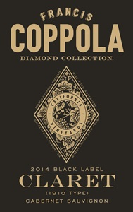 California Francis Coppola Diamond Collection Black Label Claret Cabernet-Sauvignon 2014
