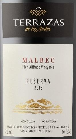 Terrazas De Los Andes Reserva Malbec 2015 Expert Wine Review