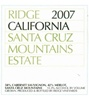 Ridge Santa Cruz Mountains Estate Cabernet Merlot 2007