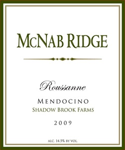 Mcnab Ridge Shadow Brook Farms Roussanne 2009