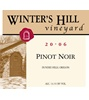 Winter's Hill Vineyard Pinot Noir 2006