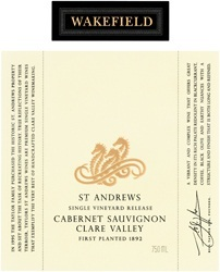Wakefield St. Andrews Cabernet Sauvignon 2014