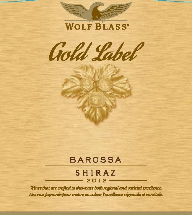 It is a photo of Gargantuan Wolf Blass Barossa Shiraz Sapphire Label